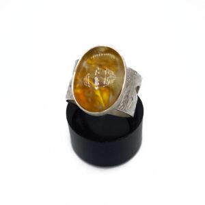 Ring Silber Bernstein Gr. 56