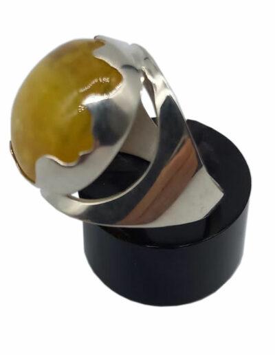 Ring Silber Bernstein Gr. 58 2