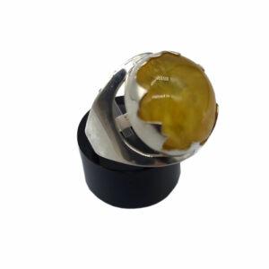 Ring Silber Bernstein Gr. 58